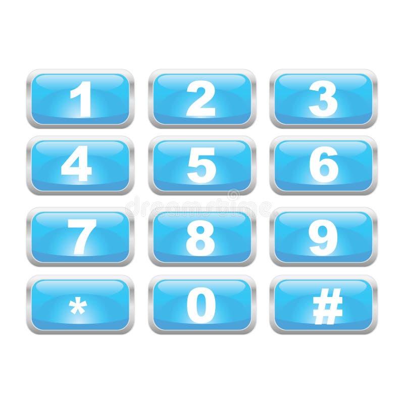 αριθμητικό πληκτρολόγιο διανυσματική απεικόνιση