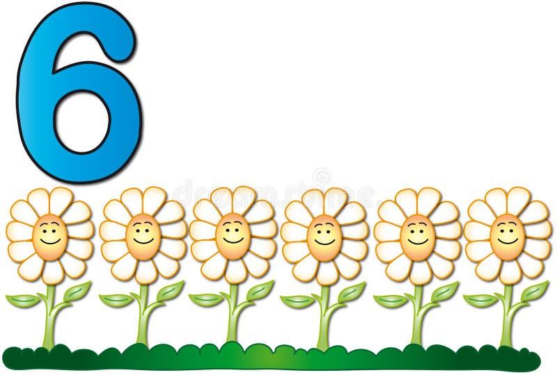 αριθμοί έξι ελεύθερη απεικόνιση δικαιώματος