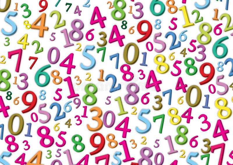 αριθμοί ανασκόπησης διανυσματική απεικόνιση