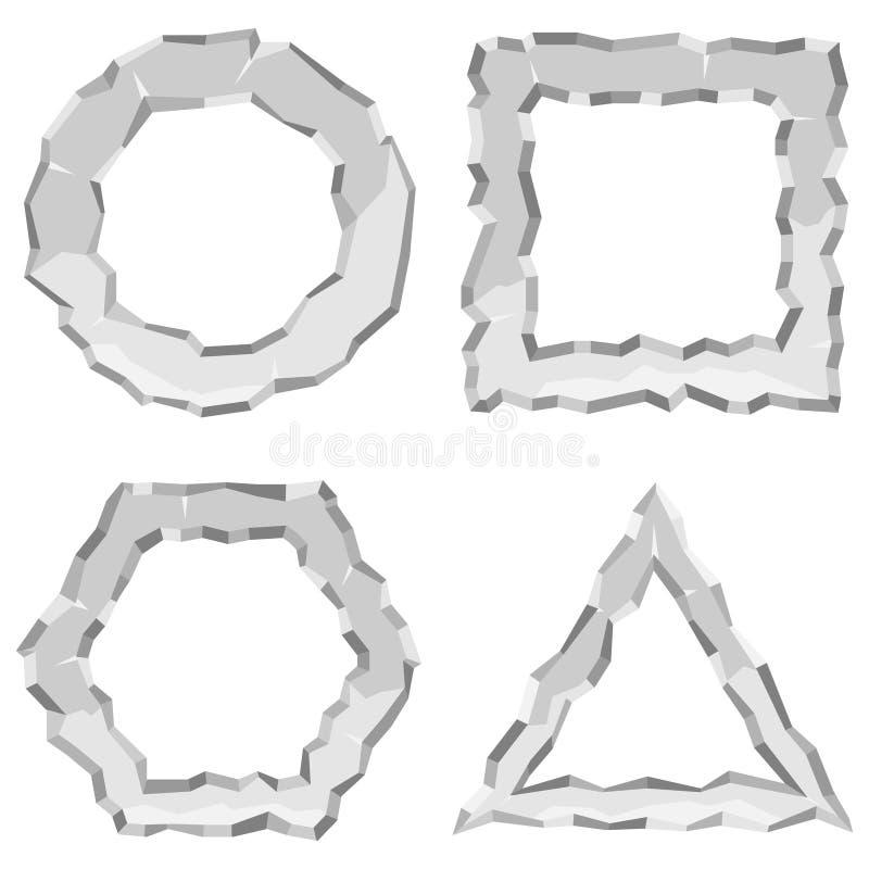 Αριθμοί από τις πέτρες, πλαίσια από τις πέτρες Ρεαλιστικοί αριθμοί πετρών ελεύθερη απεικόνιση δικαιώματος