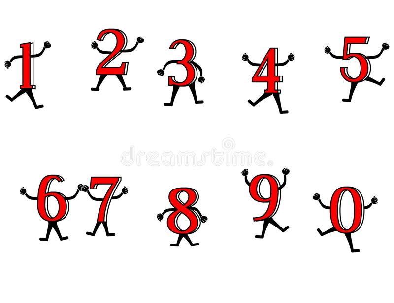 αριθμοί διασκέδασης διανυσματική απεικόνιση