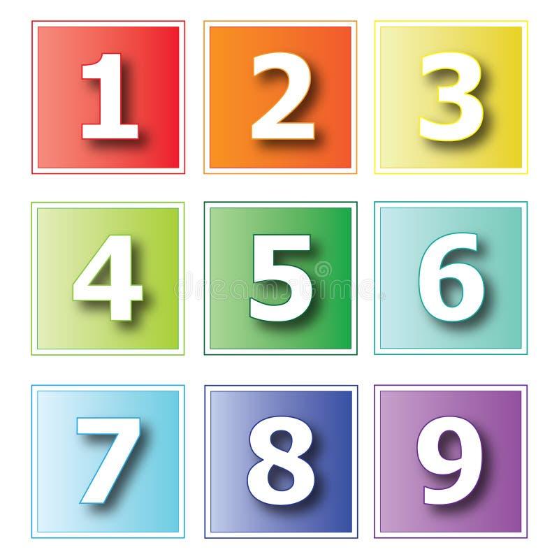Αριθμοί εικονιδίων στοκ εικόνες με δικαίωμα ελεύθερης χρήσης