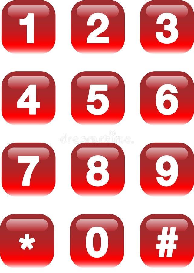 αριθμοί κουμπιών ελεύθερη απεικόνιση δικαιώματος