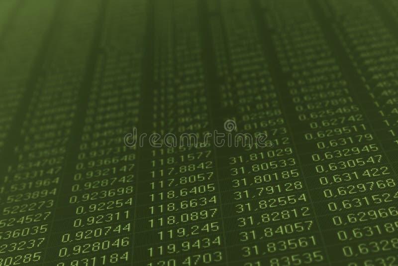 αριθμοί μηνυτόρων υπολο&gamma στοκ εικόνα