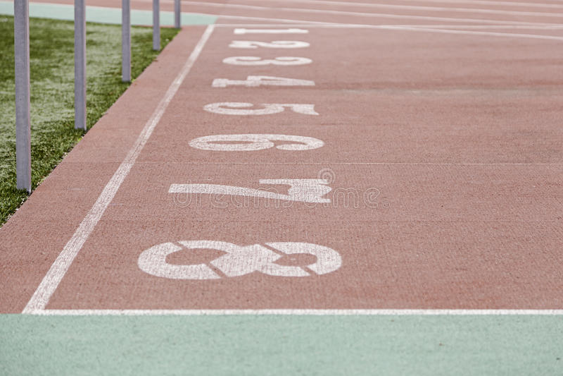 Αριθμοί μιας τρέχοντας διαδρομής στοκ εικόνα