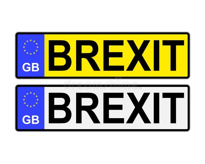 Αριθμοί πινακίδας αυτοκινήτου ΜΒ Brexit απεικόνιση αποθεμάτων