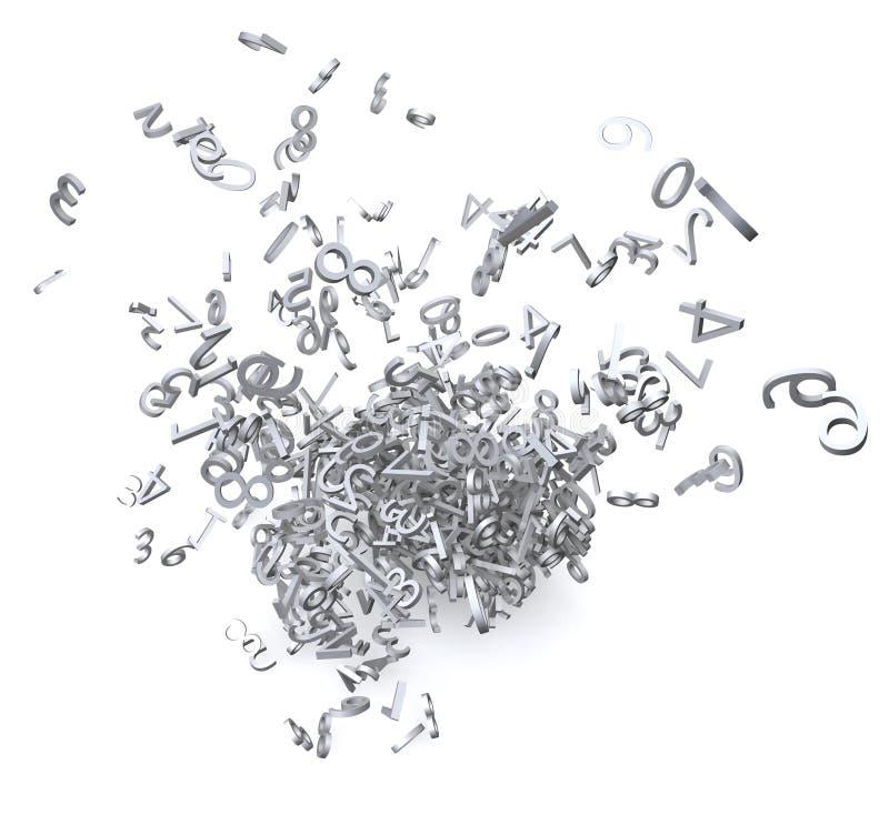 αριθμοί που εκρήγνυνται τρισδιάστατοι απεικόνιση αποθεμάτων