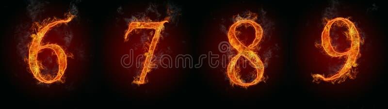 αριθμοί πυρκαγιάς ελεύθερη απεικόνιση δικαιώματος