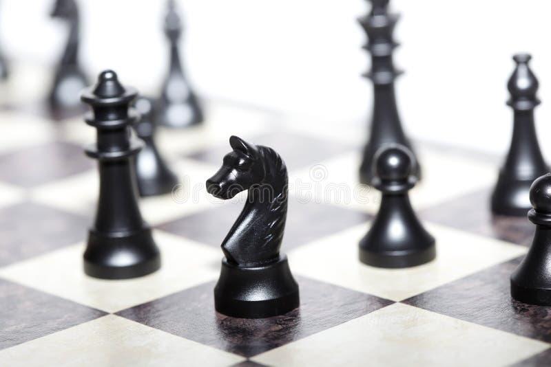 Αριθμοί σκακιού - στρατηγική και ηγεσία στοκ εικόνα με δικαίωμα ελεύθερης χρήσης