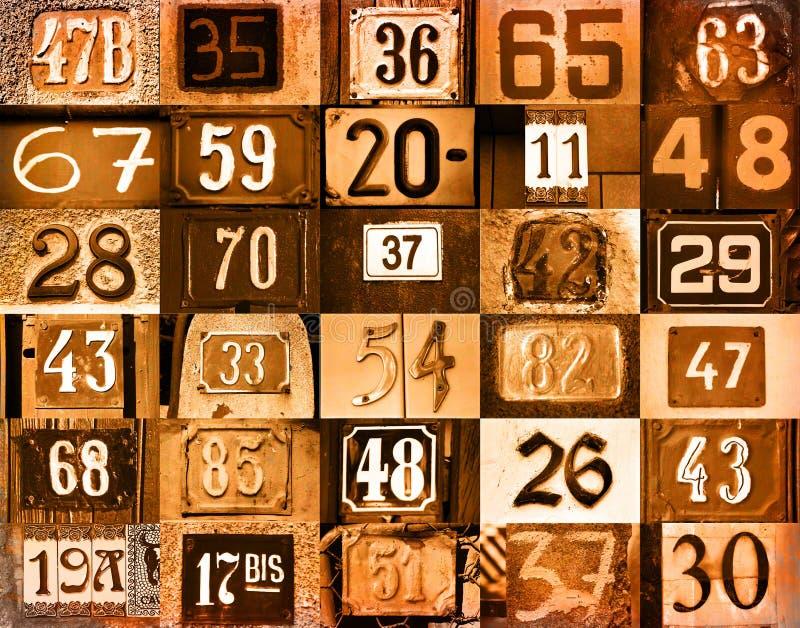 αριθμοί σπιτιών απεικόνιση αποθεμάτων