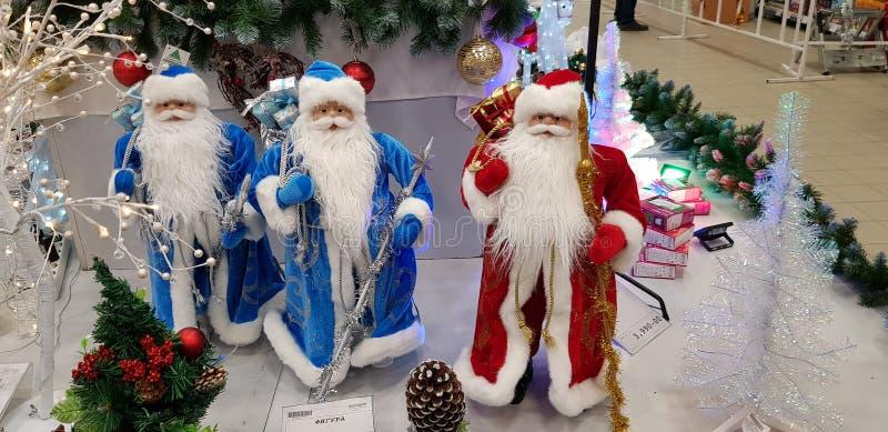 Αριθμοί των προτάσεων Santa στην πώληση στο κατάστημα στοκ φωτογραφία με δικαίωμα ελεύθερης χρήσης