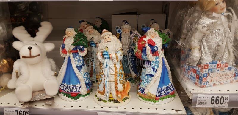 Αριθμοί των προτάσεων Santa στην πώληση στο κατάστημα στοκ φωτογραφίες με δικαίωμα ελεύθερης χρήσης
