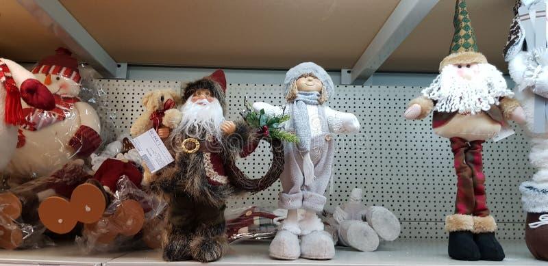 Αριθμοί των προτάσεων Santa στην πώληση στο κατάστημα στοκ εικόνα