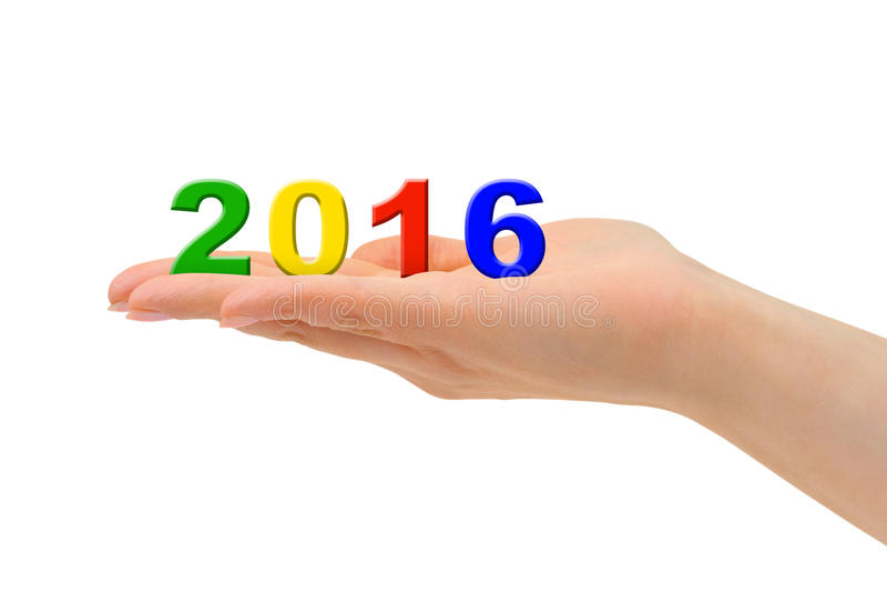 Download Αριθμοί 2016 υπό εξέταση στοκ εικόνα. εικόνα από χαιρετισμός - 62702923
