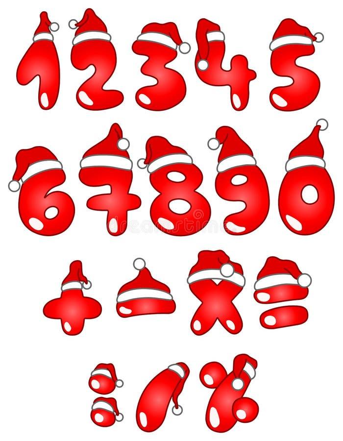 αριθμοί Χριστουγέννων απεικόνιση αποθεμάτων
