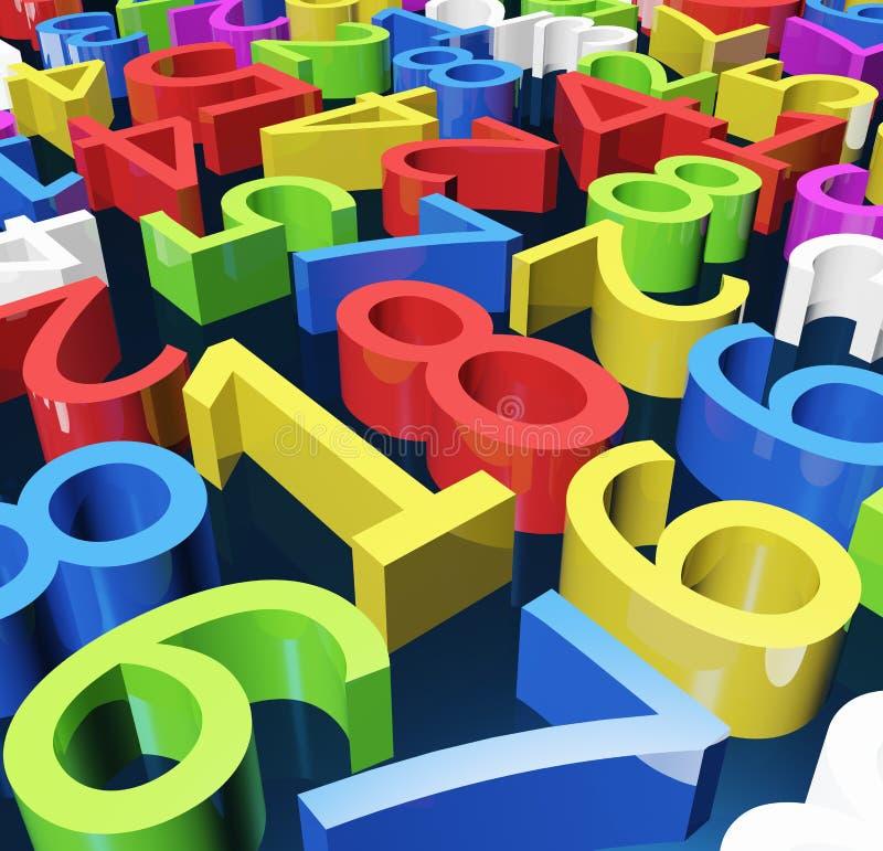 Αριθμοί χρώματος διανυσματική απεικόνιση