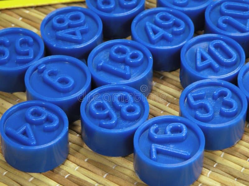 αριθμοί bingo στοκ φωτογραφία