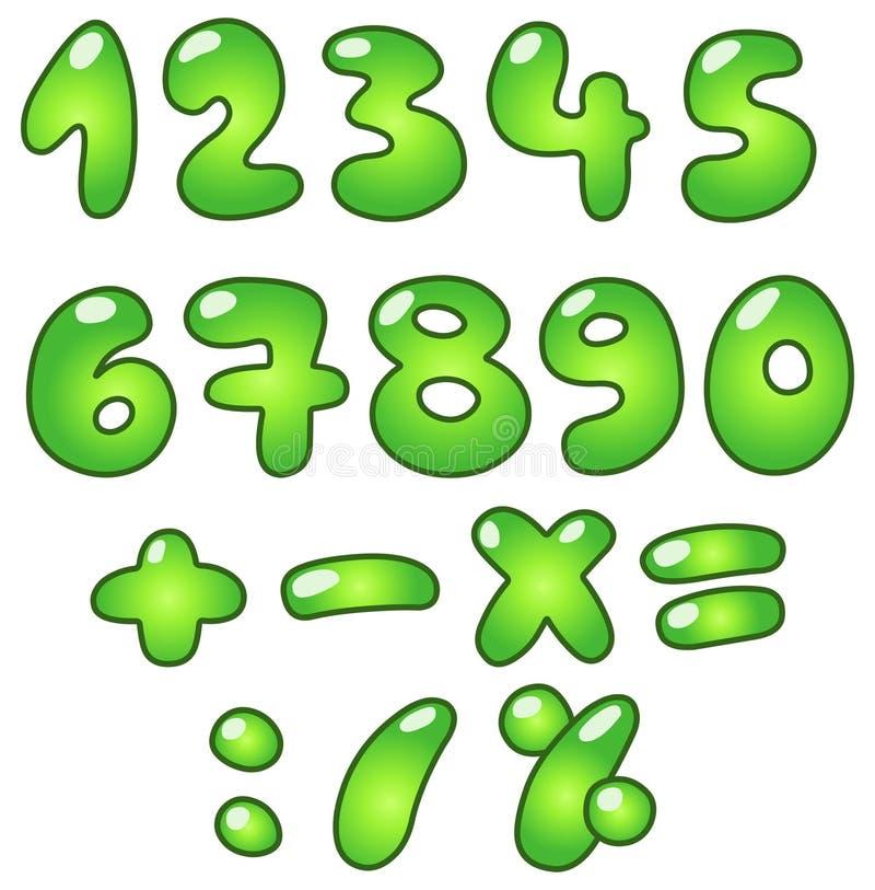 αριθμοί eco φυσαλίδων διανυσματική απεικόνιση