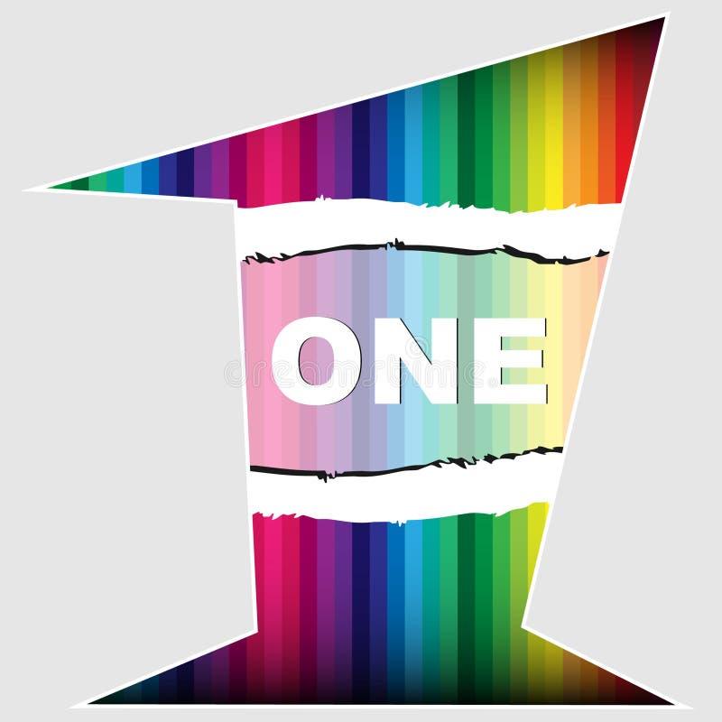 Αριθμός ένα ζωηρόχρωμη σύσταση ελεύθερη απεικόνιση δικαιώματος