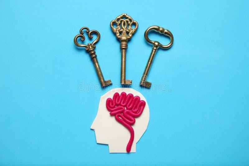 Αριθμός ατόμου και τριών κλειδιών Επιχειρησιακές προβλήματα και λύση στοκ φωτογραφία με δικαίωμα ελεύθερης χρήσης