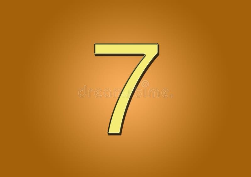 Αριθμός 7 για χρήση κατά τη δημιουργία περιεχομένου ελεύθερη απεικόνιση δικαιώματος