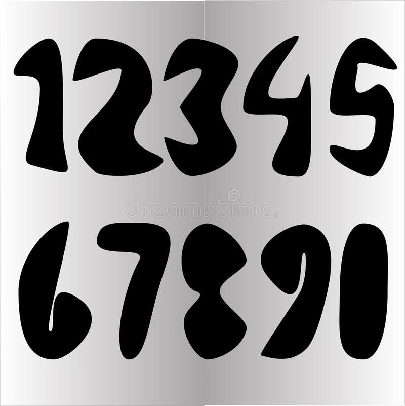 Αριθμός διανυσματικό Varians για το σχέδιο ελεύθερη απεικόνιση δικαιώματος