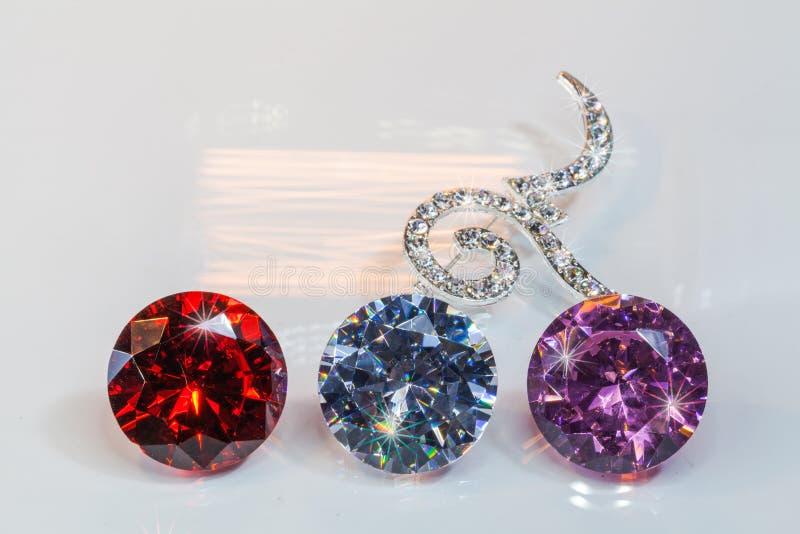 αριθμός εννέα πόρπες που διακοσμούνται από τα διαμάντια στοκ εικόνα με δικαίωμα ελεύθερης χρήσης