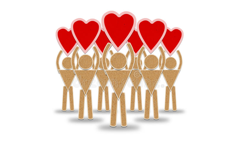 Download Αριθμός ενός ατόμου με μια κόκκινη καρδιά Απεικόνιση αποθεμάτων - εικονογραφία από υγειονομικός, σκιά: 22781826
