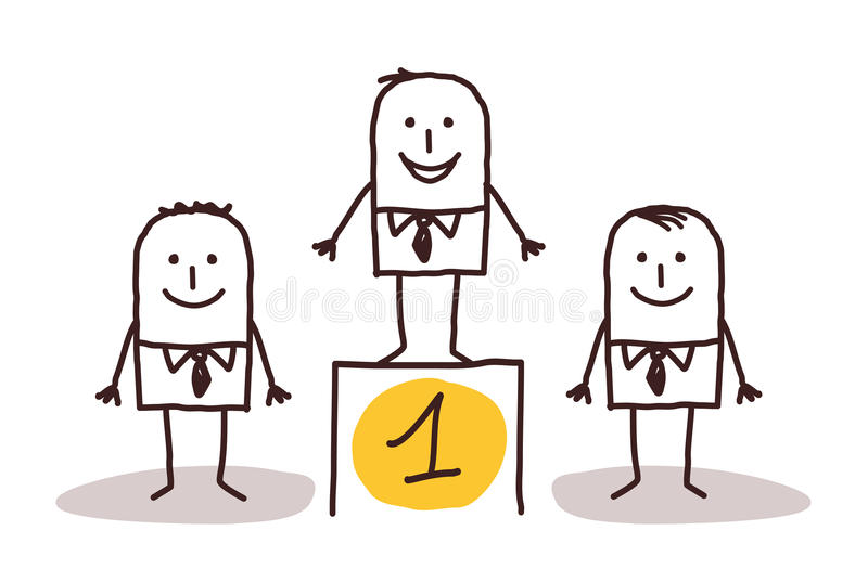 αριθμός επιχειρηματιών ένα&s ελεύθερη απεικόνιση δικαιώματος