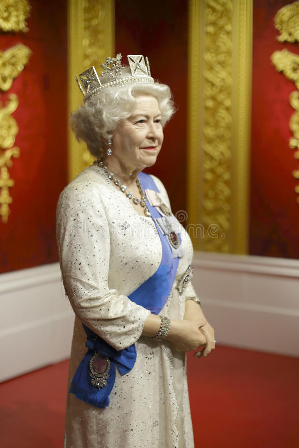 Αριθμός κεριών βασίλισσας Elizabeth στοκ φωτογραφία