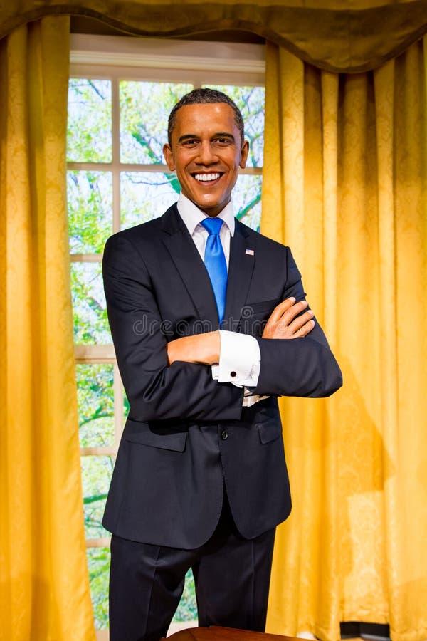 Αριθμός κεριών Obama Barack στην κυρία Tussauds Σαν Φρανσίσκο στοκ φωτογραφία