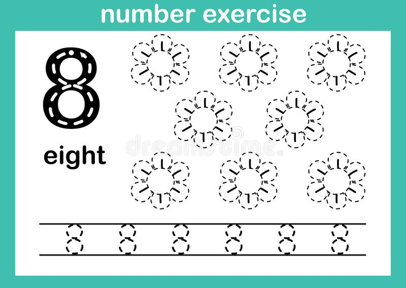 Αριθμός οκτώ άσκηση ελεύθερη απεικόνιση δικαιώματος