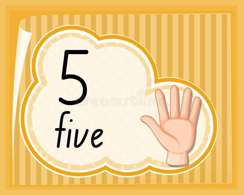 Αριθμός πέντε χειρονομία χεριών ελεύθερη απεικόνιση δικαιώματος