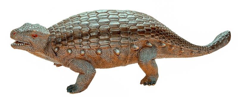 Αριθμός παιχνιδιών δεινοσαύρων Ankylosaurus που απομονώνεται στοκ εικόνα
