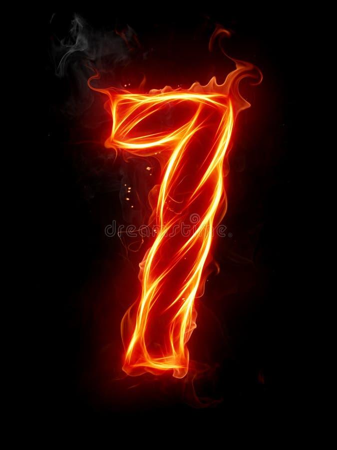 αριθμός πυρκαγιάς ελεύθερη απεικόνιση δικαιώματος