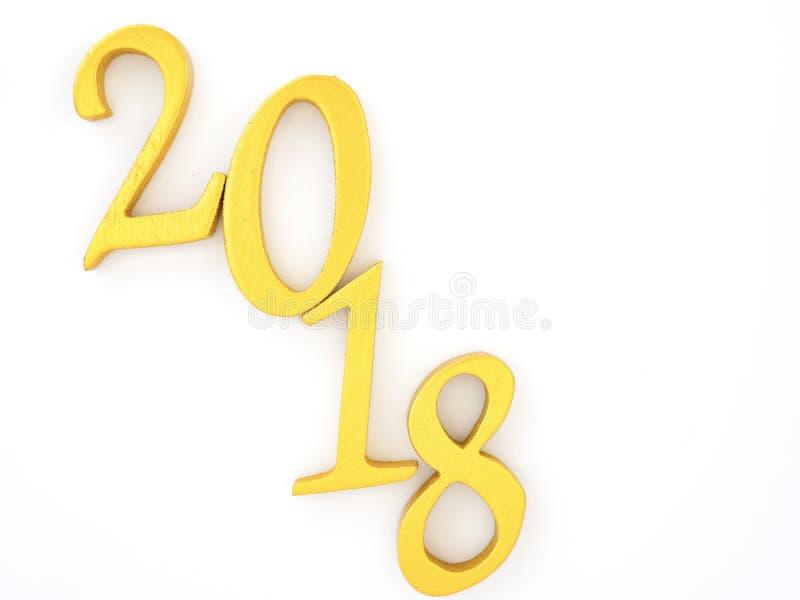 αριθμός 2018 στο χρυσό στοκ εικόνα με δικαίωμα ελεύθερης χρήσης