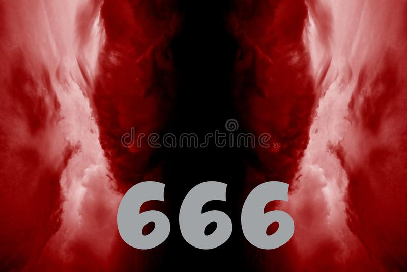 Αριθμός 666 ως σημάδι Antichrist ελεύθερη απεικόνιση δικαιώματος