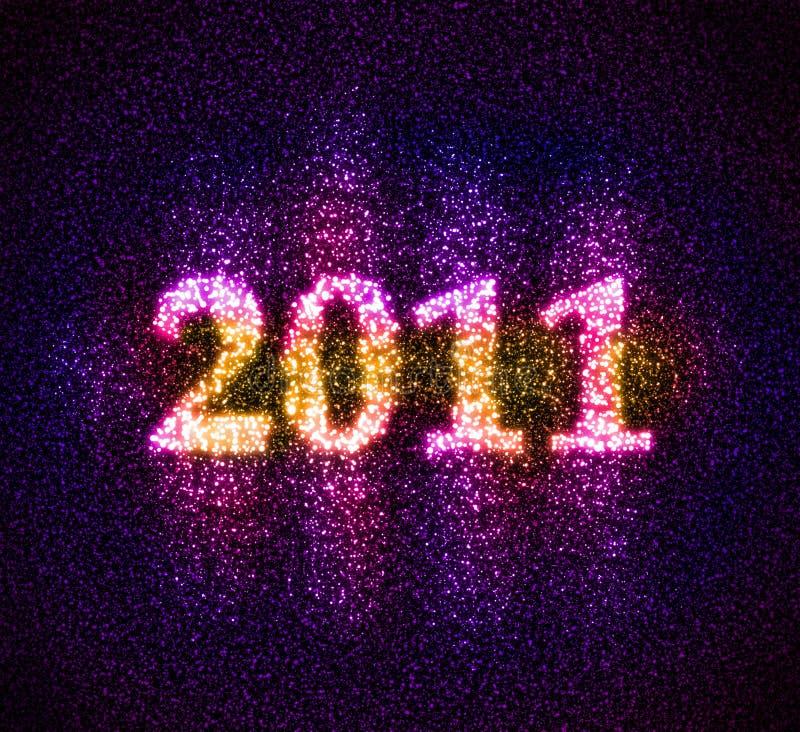 Αριθμός 2011 που συγκεντρώνεται των αστεριών στοκ φωτογραφία με δικαίωμα ελεύθερης χρήσης