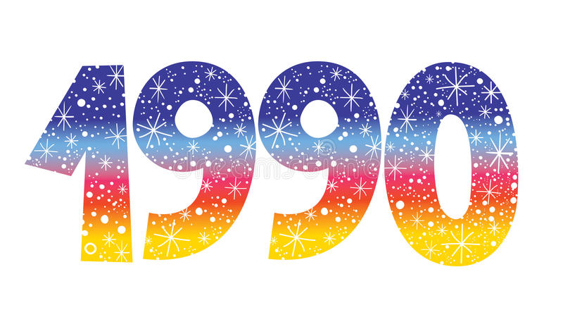 Αριθμός 1990 απεικόνιση αποθεμάτων