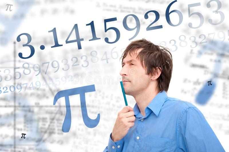 αριθμός pi στοκ εικόνα