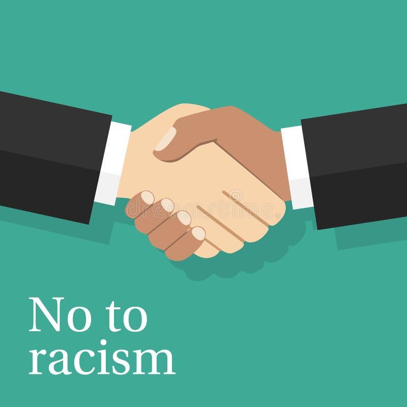 Αριθ. στην έννοια ρατσισμού ελεύθερη απεικόνιση δικαιώματος