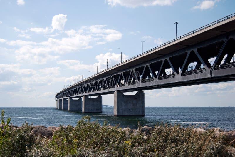 αριστερή πλευρά oresundsbron στοκ εικόνα με δικαίωμα ελεύθερης χρήσης