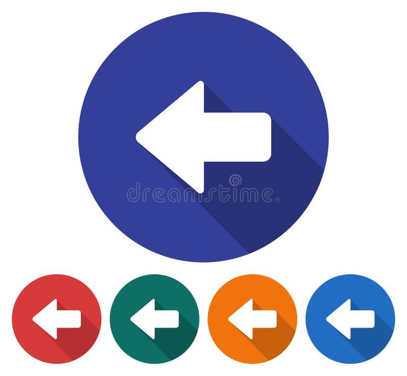 Αριστερό εικονίδιο βελών κατεύθυνσης ελεύθερη απεικόνιση δικαιώματος