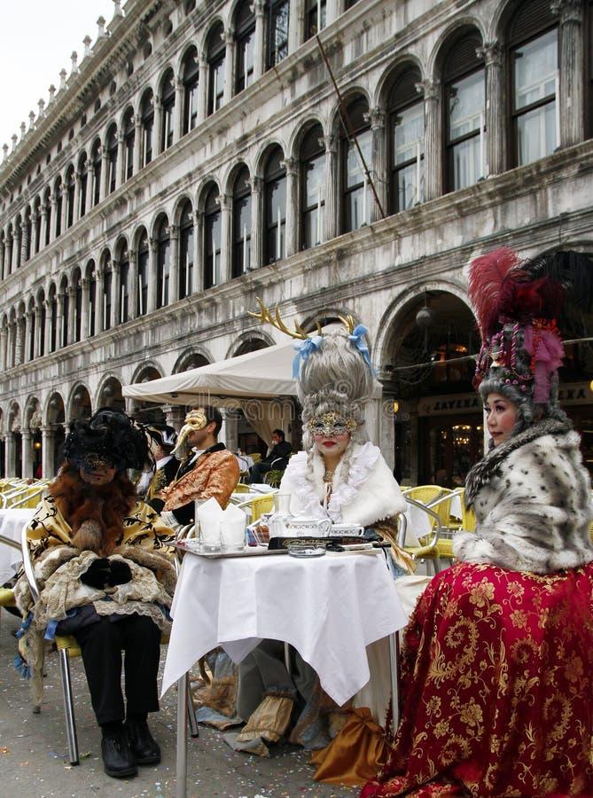 αριστοκρατικές ασιατικές γυναίκες για καρναβάλι της Βενετίας Ιταλία Βενετία στοκ φωτογραφίες με δικαίωμα ελεύθερης χρήσης