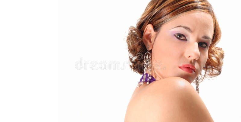 αριστοκρατική γυναίκα πορτρέτου στοκ εικόνα με δικαίωμα ελεύθερης χρήσης