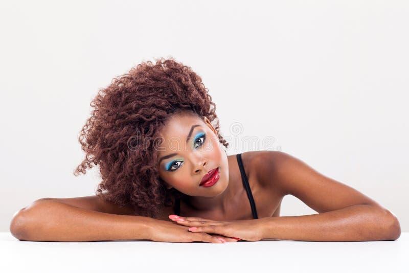 Αρκετά αφρικανική γυναίκα στοκ εικόνα
