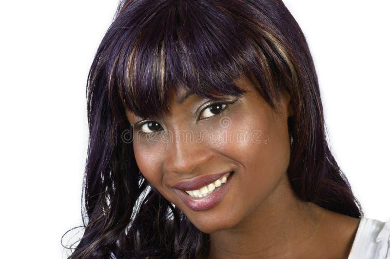 Αρκετά αφρικανική κινηματογράφηση σε πρώτο πλάνο γυναικών στοκ εικόνα με δικαίωμα ελεύθερης χρήσης