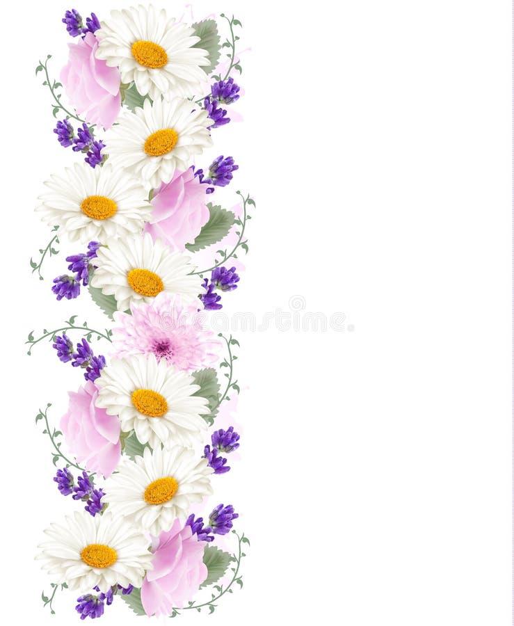 Αρκετά κάθετο έμβλημα λουλουδιών ελεύθερη απεικόνιση δικαιώματος