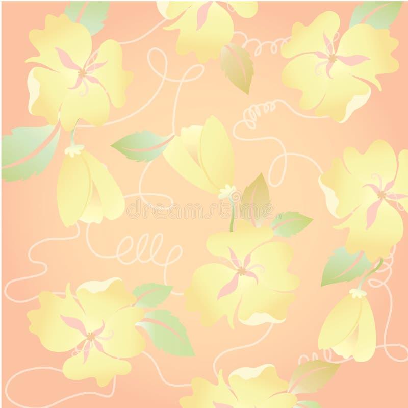 Αρκετά πορτοκαλής Floral στο θερινή περίοδο λουλούδι για το χαριτωμένο υπόβαθρο στοκ εικόνα
