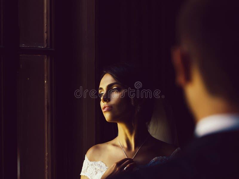 Αρκετά προκλητική νύφη στοκ φωτογραφίες με δικαίωμα ελεύθερης χρήσης